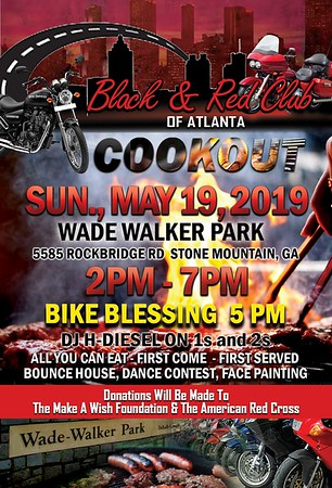 2019 Black & Red Clubs Of Atlanta Cookout Give Back To The Community.