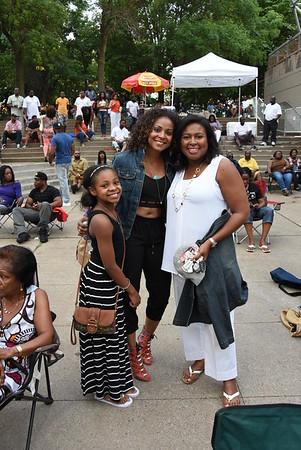 Mayor Warren attends a ROC the Park concert. 7/25/2015