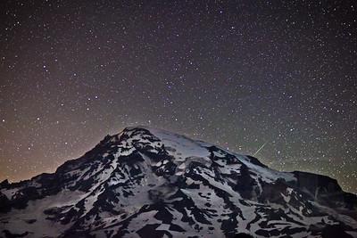Perseid Meteor Shower at Mt. Rainier