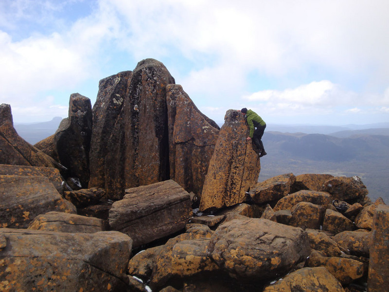 I still had not reached the summit! One final boulder pile to climb...
