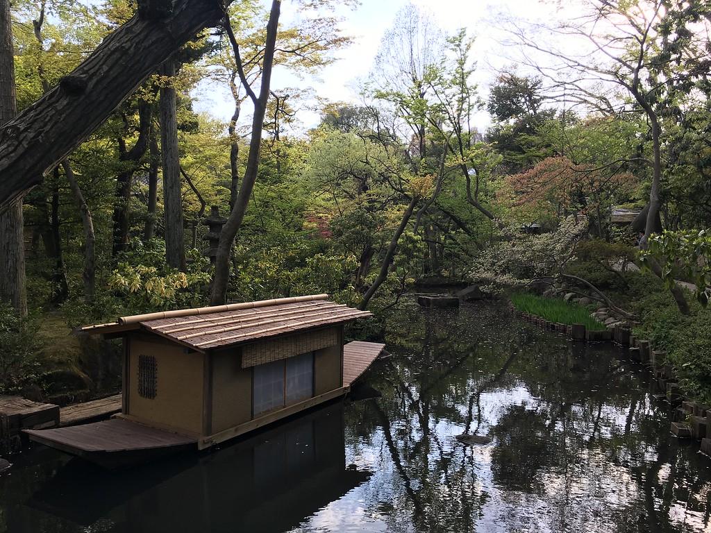 Inside the lush Nezu Museum garden.