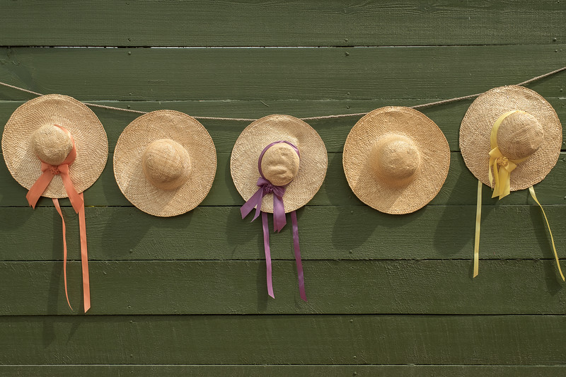 18th Century Style Colonial Hats and Ribbons