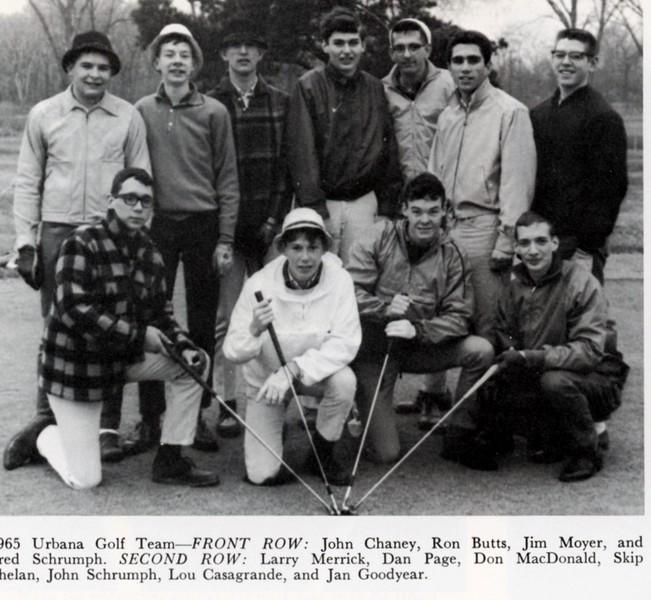 1965 Urbana Golf Team
