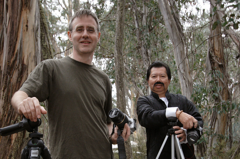 Peter Chang and I, with cameras and tripods, used in the group photographs.