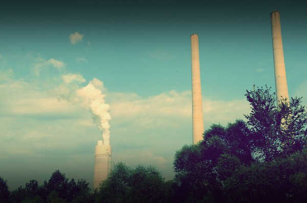 Kingston, Tennessee.  Kingston Steam Plant. Summer 2010.