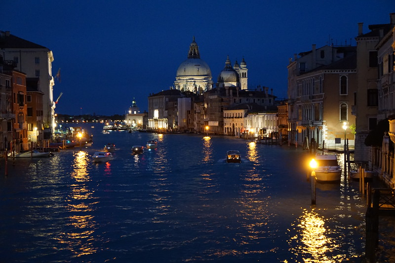 Santa Marie della Salute along the Grand Canal taken from the Accademia bridge