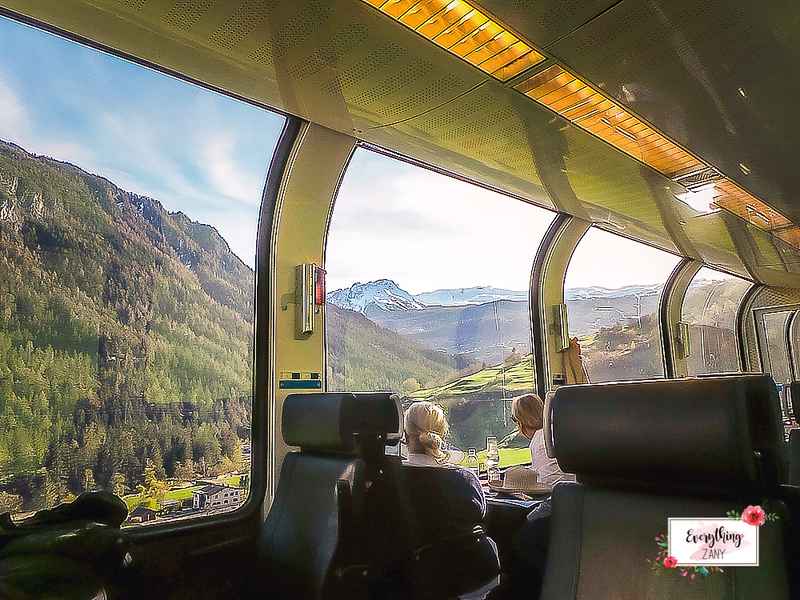 Bernina Express near Tirano, Italy