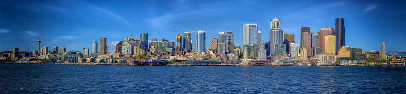 Panoramic image of the Seattle Skyline