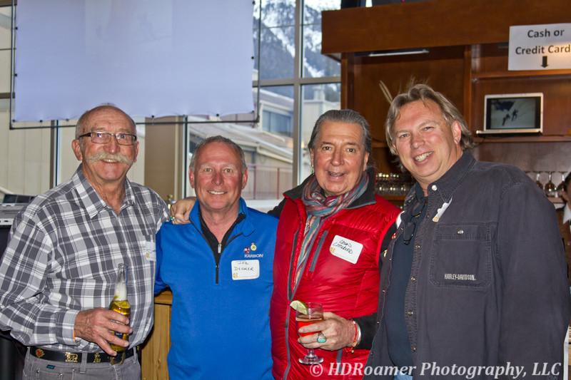 Jim Deines, Joe Decker, Leon Littlebird, and me - Dave Evers