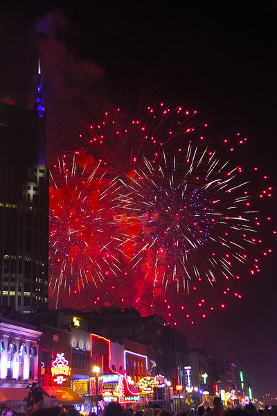 Reflections Of July 4th Fireworks In Downtown Nashville Tennessee