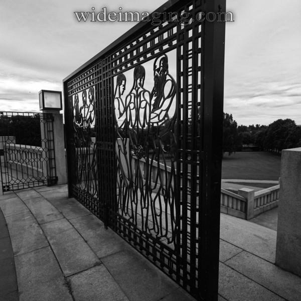 Vigelands Park wrought iron sculpture.