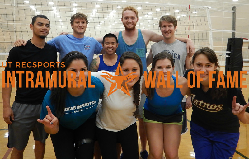VOLLEYBALL Coed C Runner Up  Sets In The City  R1: Alexandra Trevino, Veronica Martinez-Moncada, Rebecca Quinlan, Elizabeth Bouldin R2: Hernan Sandoval, Blaine Bowman, Xiaomin Xue, Clayton Cain, Kyle St. Nicholas