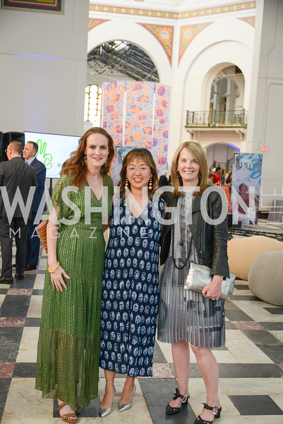 Kate Goodall, Nicole Dowd, Carole Melton, By The People, Arts Festival, Smithsonian Arts and Industries Building, June 14th, 2019.  Photo by Ben Droz.