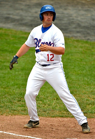7/11/2019 Mike Orazzi   Staff The Bristol Blues' Dylan Reynolds (12) at Muzzy Field Thursday evening.