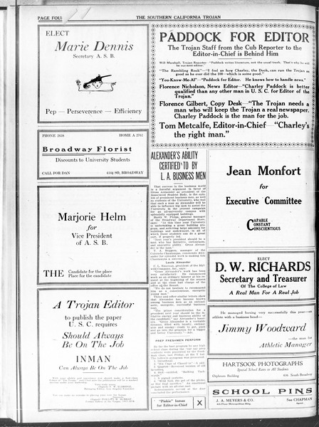 The Southern California Trojan, Vol. 11, No. 93, May 11, 1920