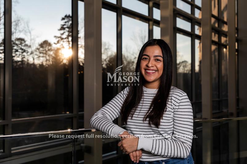 Senior Sarai Alvarez is planning to use her bioengineering degree in the field of health care informatics. Photo by Lathan Goumas/Strategic Communications