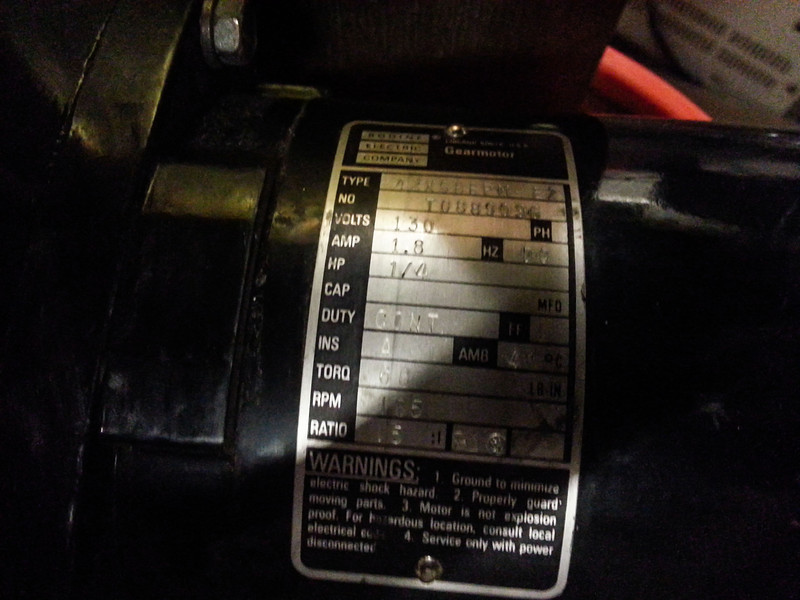 Bodine motor that goes to a bodine drive I have.