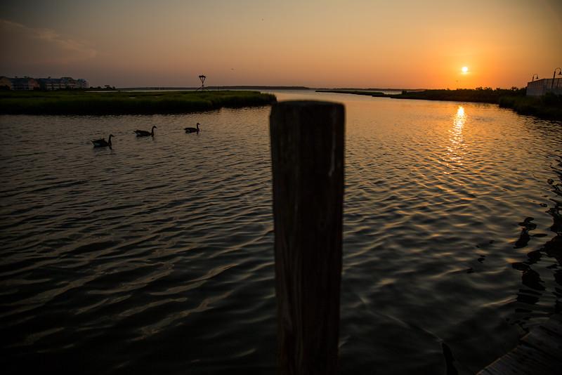 Sunset over Assawoman Bay as seen from Ocean City, Maryland