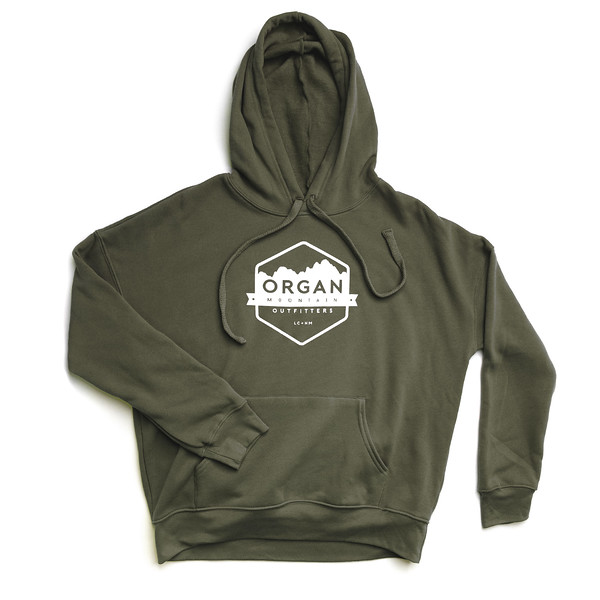 Organ Mountain Outfitters - Outdoor Apparel - Womens - Classic Fleece Pullover Hoodie - Military Green.jpg