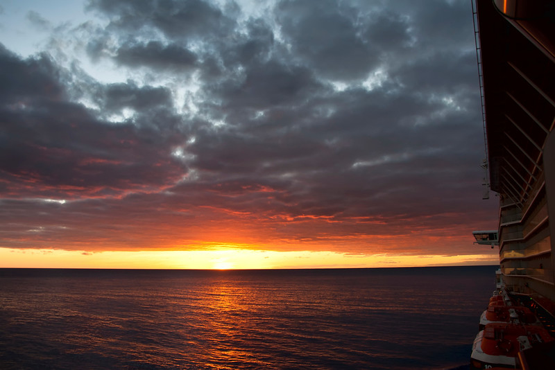 More of the sunset, out at sea.