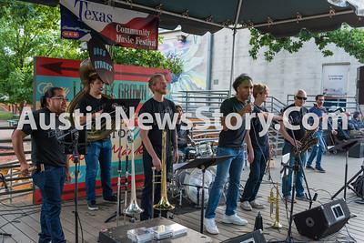2018 Texas Community Music Festival, Boss Street, Stray Bullets, Central Market North, Friday, 4-20-2018