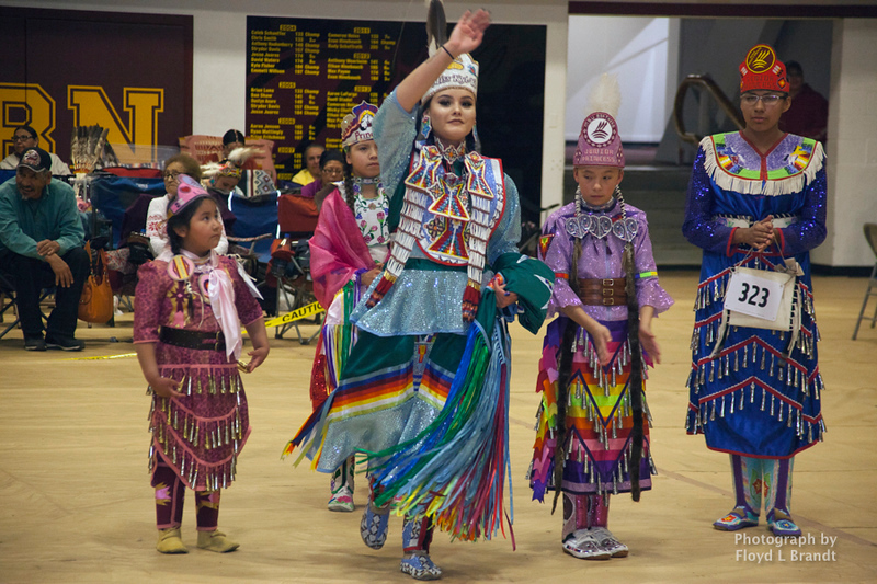 Havre Daily News/Floyd Brandt    Miss Kyi-yo Princes University of Montana,  Wozek Chandler at the Sweetwater Pow wow