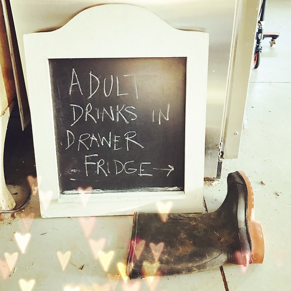 adult drinks sign