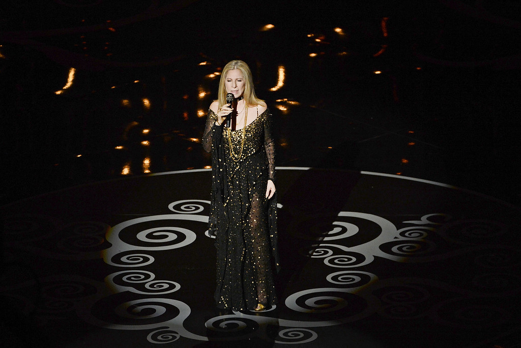 . Singer/actress Barbra Streisand performs onstage during the Oscars held at the Dolby Theatre on February 24, 2013 in Hollywood, California.  (Photo by Kevin Winter/Getty Images)