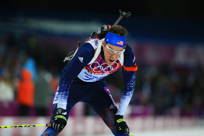 . Leif Nordgren of the United States competes in the Men\'s Sprint 10 km during day one of the Sochi 2014 Winter Olympics at Laura Cross-country Ski & Biathlon Center on February 8, 2014 in Sochi, Russia.  (Photo by Richard Heathcote/Getty Images)