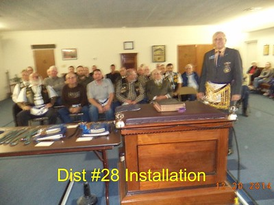 Officers' Installation - Dist 28 Lodges