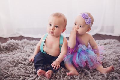 Finn and Sadie - 8 Months