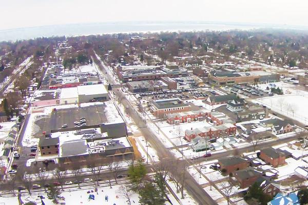 Grosse Pointe Village Aerial