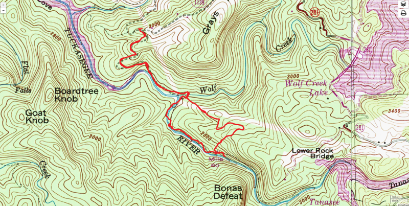 Lower Bonas Defeat Route Map