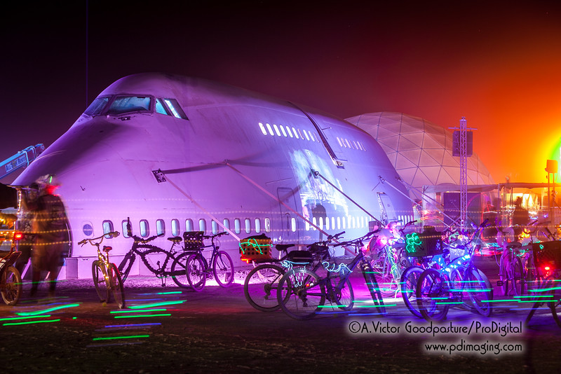 This 747 was cut up, transported to the playa, and reassembled.