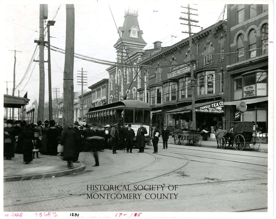 . This photo from the Historical Society of Montgomery County shows downtown Norristown circa 1890.