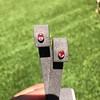 .98ctw Padparadscha Sapphire Bezel Stud Earrings 3