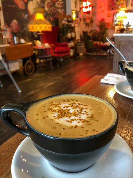 Latte at Brewella in Lakewood