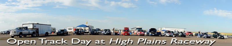 Panoramic shot of most of the MINIs in attendance, some there to drive, some to observe.