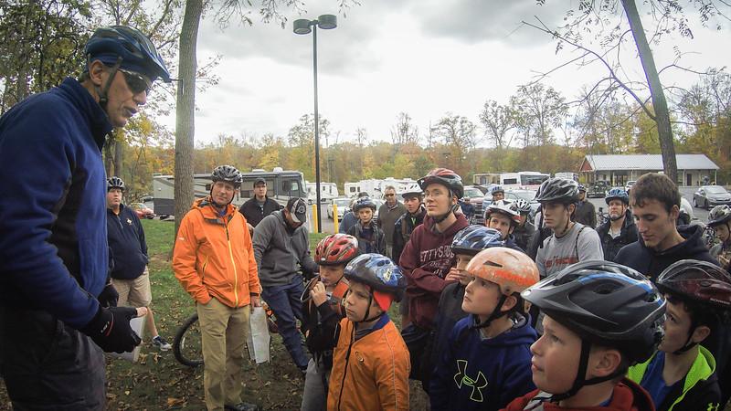 Tour Guide Bob starts the tour