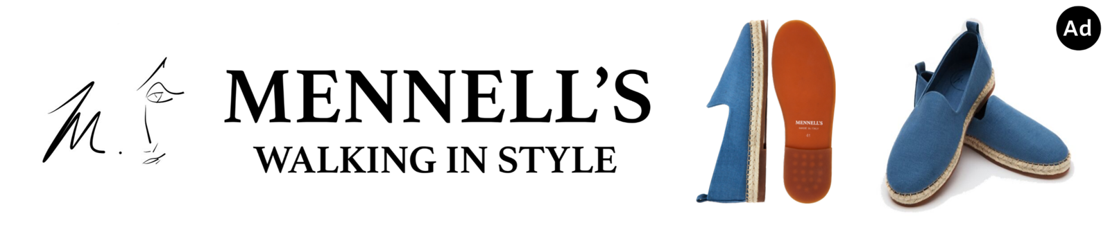 Mennell's Espadrilles Shoes Made in Italy Moving in Style for Celebrity WotNot