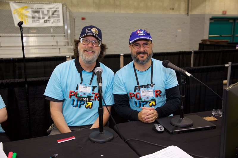 Paul Lake and Christoper Nola, the game announcers