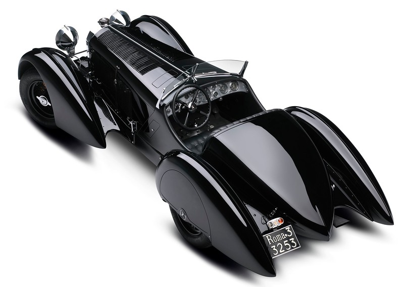 1930 Mercedes-Benz SSK 7.1L I-6 Supercharged rear 34 view.jpg