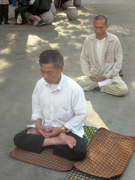 Falun Gong demonstrators