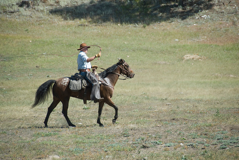 Horse back rider in Black Hills, South Dakota