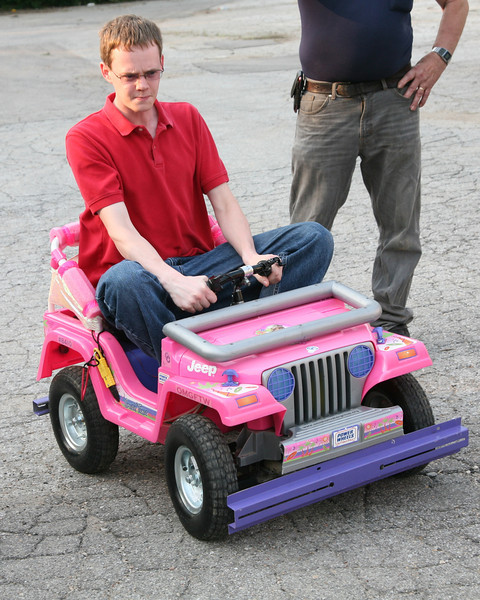 Hoping to determine the source of the problem, Ben Hutcheson takes the Jeep for a run.