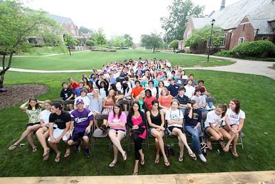 DS seniors Grad practice 5-8-09