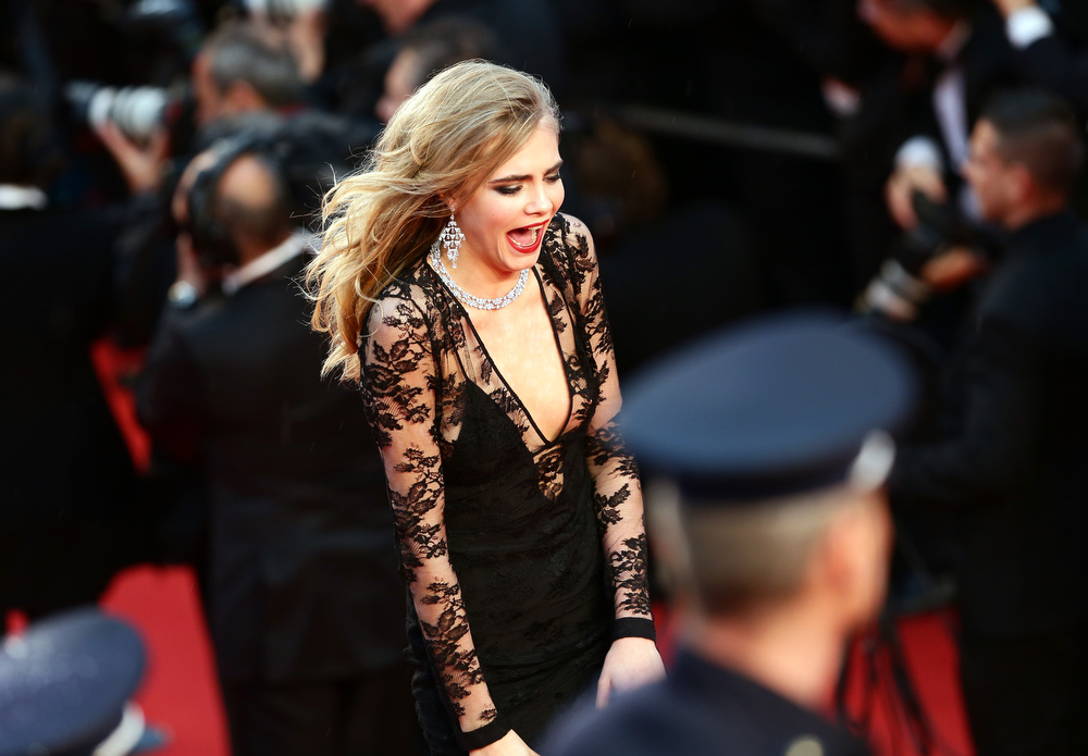. Cara Delevingne attends the Opening Ceremony and \'The Great Gatsby\' Premiere during the 66th Annual Cannes Film Festival at the Theatre Lumiere on May 15, 2013 in Cannes, France.  (Photo by Vittorio Zunino Celotto/Getty Images)