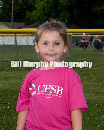 3 - 4 Girls T-Ball Pink CFSB Team, Coaches Kurt Schmidt & Ricky Denfip, May 29, 2014.