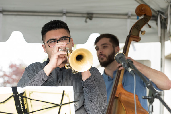05/15/19 Wesley Bunnell | Staff The Greater New Britain Chamber of Commerce @ Tomasso Group held an after business party with food and drinks and networking before unveiling their signature bee which is part of Bees Across New Britain. Musicians play for the crowd.