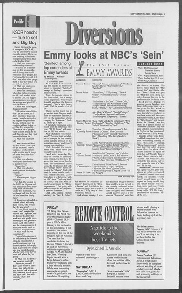 Daily Trojan, Vol. 121, No. 13, September 17, 1993